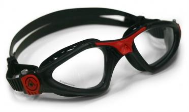 Aqua Sphere Kayenne Zwembril transparante lens zwart/rood