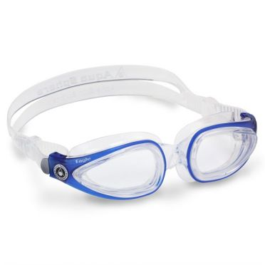 Aqua Sphere Eagle transparante lens zwembril blauw