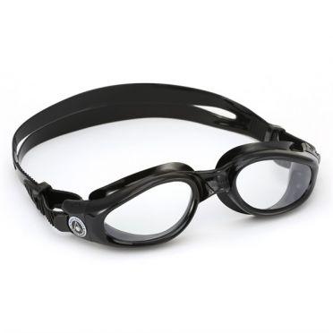 Aqua Sphere Kaiman transparante lens zwembril zwart