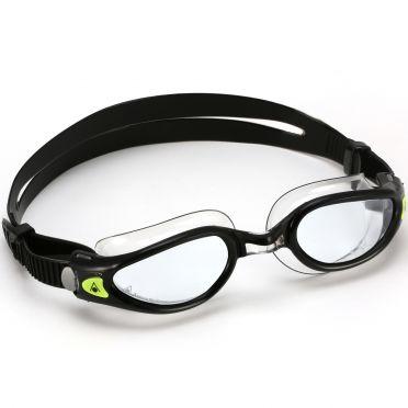 Aqua Sphere Kaiman EXO transparante lens zwembril zwart/zilver