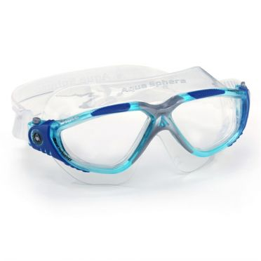Aqua Sphere Vista transparante lens zwembril blauw