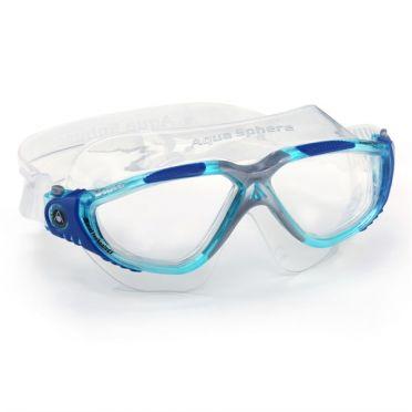 Aqua Sphere Vista transparante lens zwembril blauw