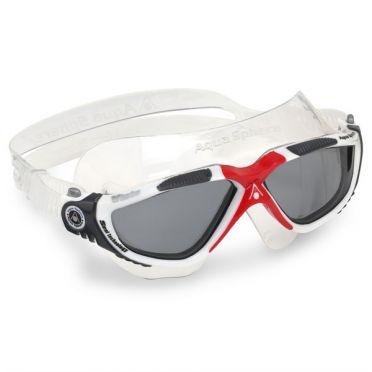 Aqua Sphere Vista donkere lens zwembril zilver/rood