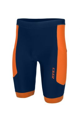 Zone3 Aquaflo plus tri shorts blauw/oranje heren