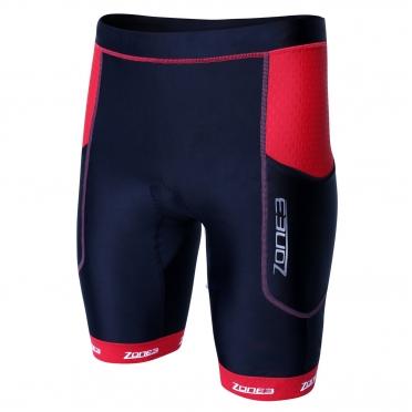Zone3 Aquaflo plus tri short zwart/rood heren