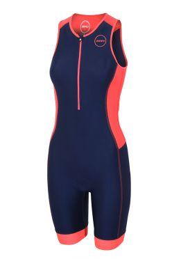 Zone3 Aquaflo plus mouwloos trisuit blauw/roze dames