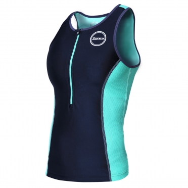 Zone3 Aquaflo plus tri top zwart/mintgroen dames