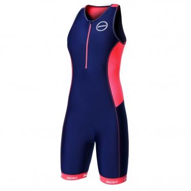 Zone3 Aquaflo plus tri suit blauw/rood dames