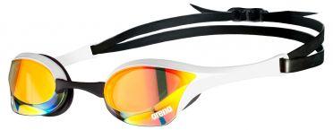Arena Cobra ultra swipe mirror zwembril geel/wit