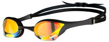 Arena Cobra ultra swipe mirror zwembril geel/zwart