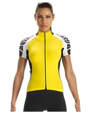 Assos SS.laalalai Evo7 fietsshirt korte mouwen geel dames