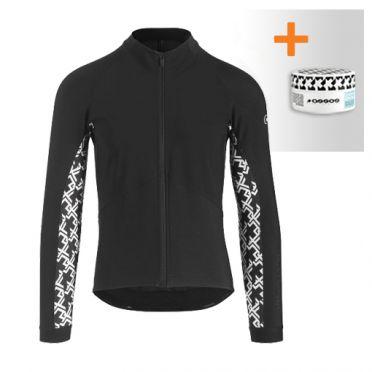 Assos Uma GT spring fall lange mouw jacket zwart dames