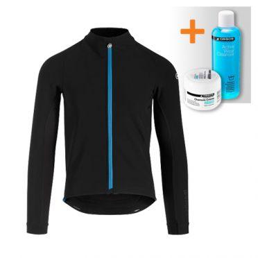Assos Mille GT ultraz winter lange mouw jacket zwart/blauw heren