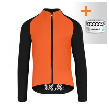 Assos Mille GT winter EVO fietsjack oranje heren
