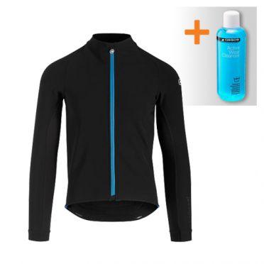 Assos Mille GT winter lange mouw jacket zwart/blauw heren