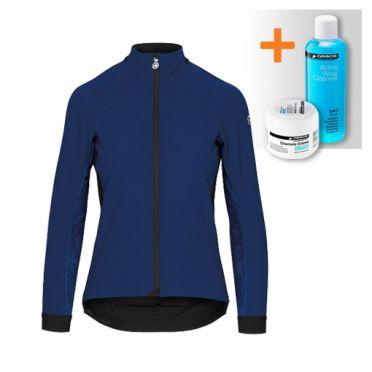 Assos Uma GT winter lange mouw jacket blauw dames