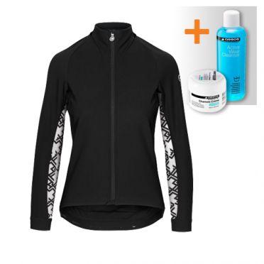 Assos Uma GT winter lange mouw jacket zwart dames