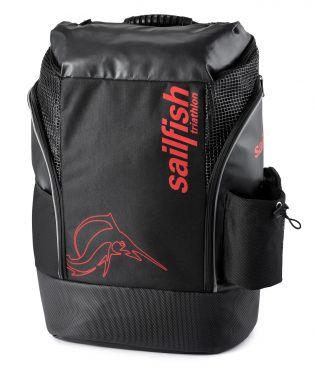 Sailfish Triathlon rugzak cape town 35 liter zwart/rood