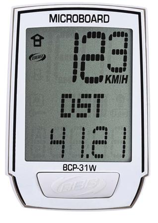 BBB Fietscomputer MicroBoard 8-functies wit