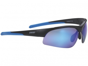 BBB Sportbril Impress PC blauw/smoke mat zwart