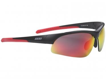 BBB Sportbril Impress rood/smoke/mat zwart