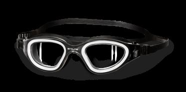 BTTLNS Ghiskar 1.0 transparante lens zwembril zwart/wit