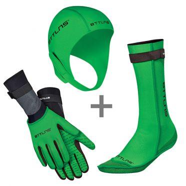 BTTLNS Neopreen accessoires voordeelset groen