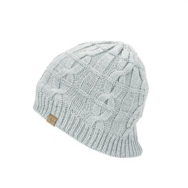 Sealskinz Cold Weather Cable knit beanie licht grijs