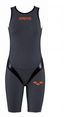 Arena Carbon pro rear zip mouwloos trisuit donkergrijs dames