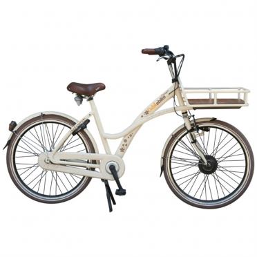 Dutchebike elektrische damesfiets cargo beige