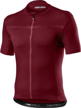 Castelli classifica fietsshirt korte mouw rood heren