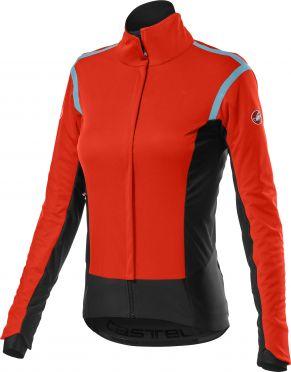 Castelli Alpha RoS 2 fietsjack lange mouw rood dames