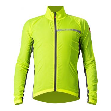 Castelli Squadra stretch fietsjack geel heren