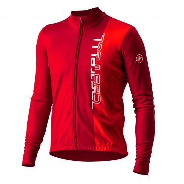 Castelli Traguardo lange mouw fietsshirt rood heren