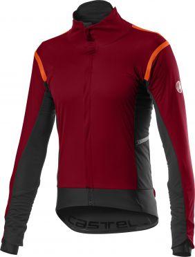 Castelli Alpha RoS 2 fietsjack donker rood heren