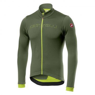 Castelli Fondo fietsshirt lange mouw groen heren