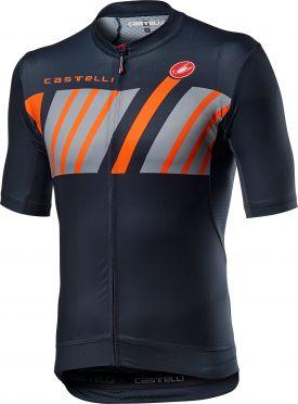 Castelli Hors Categorie korte mouw fietsshirt savile blauw heren