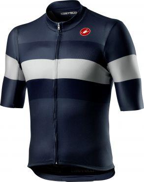 Castelli LaMITICA korte mouw fietsshirt savile blauw heren