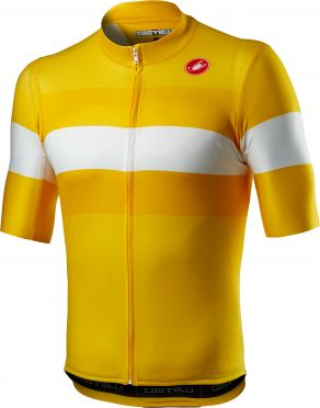 Castelli LaMITICA korte mouw fietsshirt geel heren