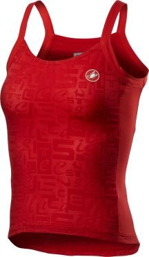 Castelli Promessa Jaquard Bavette SL top rood dames