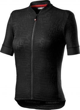 Castelli Promessa Jaquard SS fietsshirt zwart dames