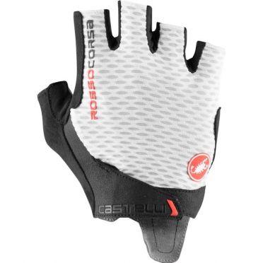 Castelli Rosso Corsa Pro V handschoen wit heren