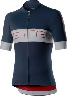 Castelli Prologo VI fietsshirt korte mouw blauw/grijs heren