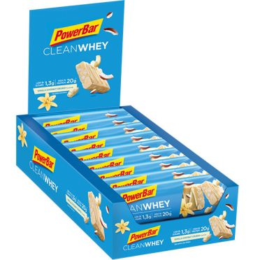 Powerbar Clean whey bar vanille kokosnoot 18 x 60 gram