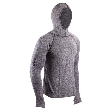 Compressport 3D thermo seamless hoodie grijs