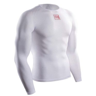 Compressport 3D thermo ultralight lange mouw ondershirt wit