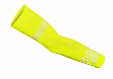 Compressport Armforce compressiemouwen geel