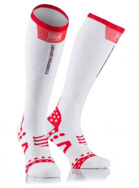 Compressport Fullsocks ultralight racing compressiesokken wit