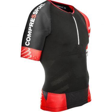 Compressport Tr3 aero top compressie shirt zwart