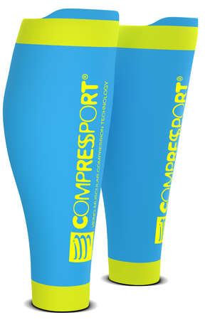 Compressport R2 v2 compressie tubes ice blauw